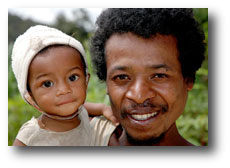 Father and daughter in Madagascar
